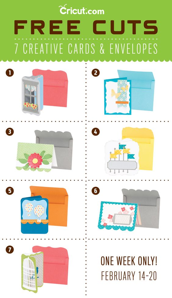 Cut 7 FREE Cards-- From Cricut! *Promotion Runs Week Of