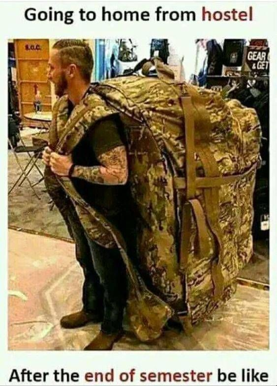 Going To Home From Hostel After End Of Semester Super Funny Memes Funny Memes Funny Memes About Life