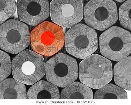 crayons stack texture, black and white - stock photo