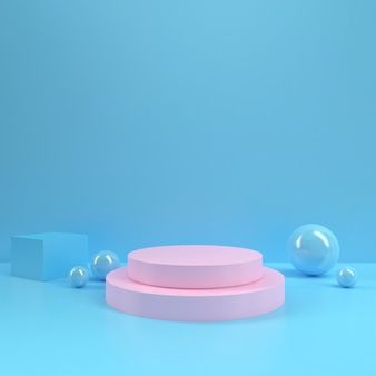 Modern Minimalist Mockup For Podium Display Or Showcase Pink Wallpaper Iphone Photo Frame Design Birthday Post Instagram