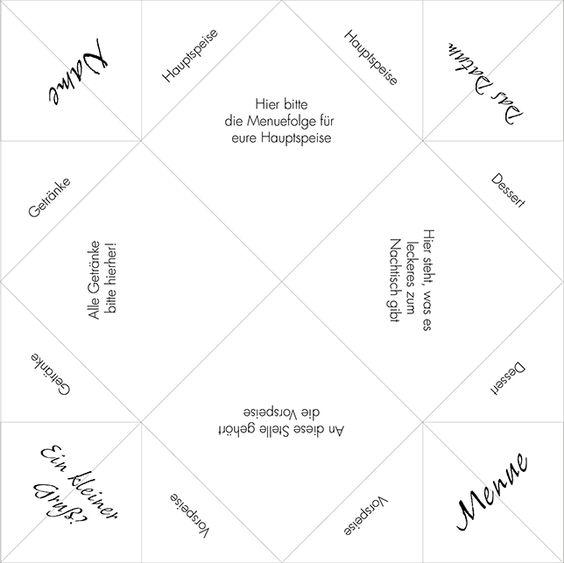 Ynas Design Blog, Tischdeko, DIY, Faltanleitung Himmel und