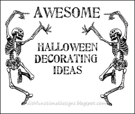 Dishfunctional Designs: Awesome Halloween Home Decorating Ideas