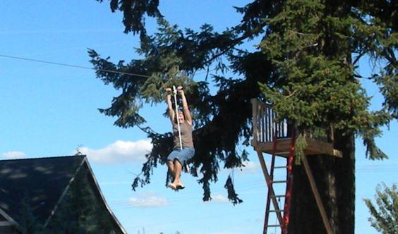 Backyard zip line - yes please!