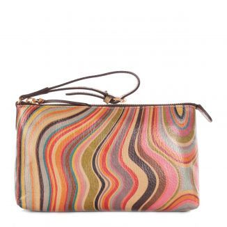 Paul Smith Accessories Womens Vintage Multiswirl Leather Wrist Purse