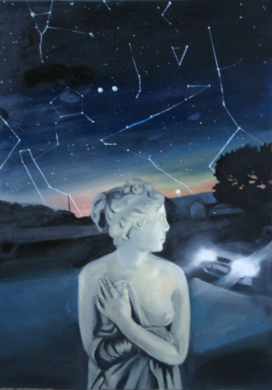 "Orsi Horvath; Oil, 2012, Painting ""venus and car"""