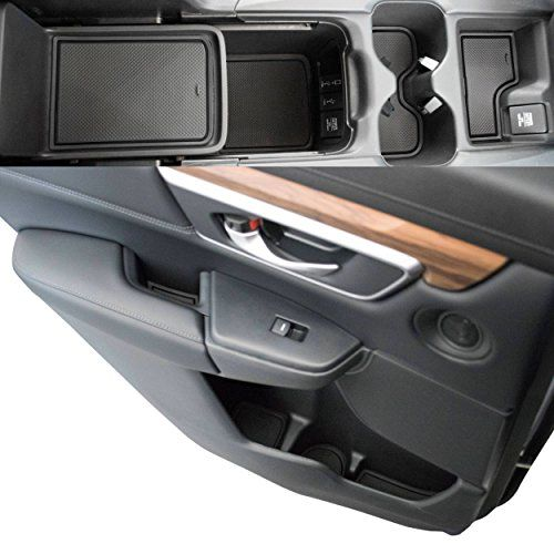 Custom Fit Cup Door Console Liner Accessories 2019 2018 2017 Honda Cr V Crv Solid Black Five Color Options Allow You T Honda Cr Honda Crv Accessories Honda