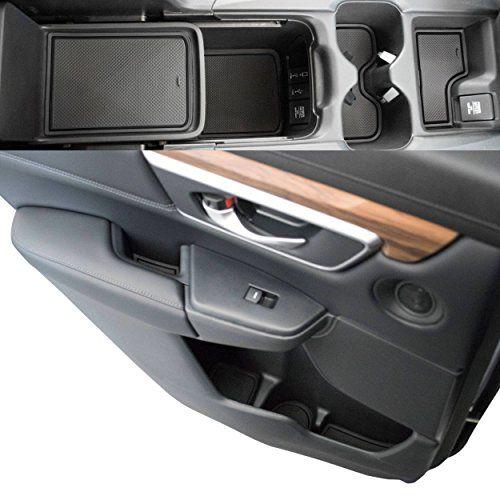 Custom Fit Cup Door Console Liner Accessories 2019 2018 2017 Honda Cr V Crv Solid Black Five Color Options Allow Honda Cr Black Honda Honda Crv Accessories