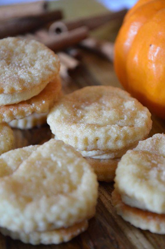 Pumpkin Spice Cream Wafers