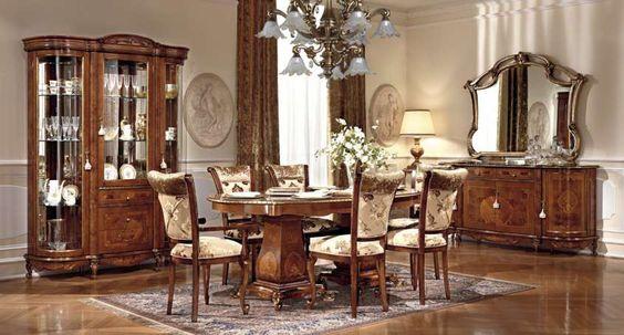 Sala da pranzo stile veneziano - Mobili in stile veneziano color noce ...