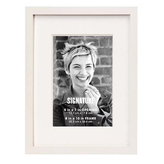 White Signature Frame With Mat By Aaron Brothers 5 X 7 Michaels In 2020 Aaron Brothers Frame Picture Wall