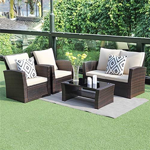 Vongrasig 5 Pieces Small Patio Furniture Sets