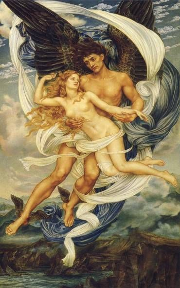 Evelyn de Morgan Boreas and Oreithyia 1896