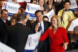 Ann & Mitt Romney in Illinois celebrating Mitt's decisive victory in the primary! Onward to Louisania