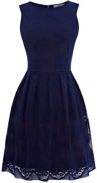 Dark blue lace dress.: