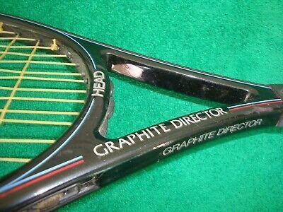 Head Graphite Director Tennis Racquet 4 In 2020 Tennis Racquet Squash Rackets Racquets