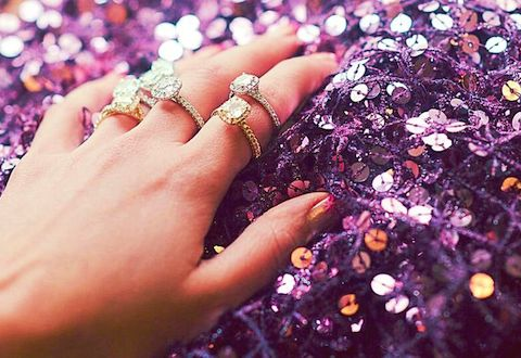 Find out her ring size by snagging  one of her old rings for a day!