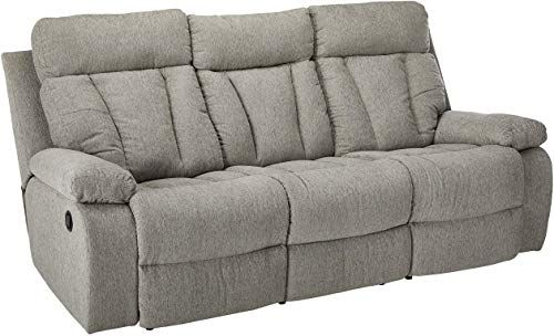 Chic Signature Design By Ashley Mitchiner Reclining Sofa Withdrop Down Table Fog Living Room Furniture 638 99 Topusash In 2020 Reclining Sofa Sofa Design Best Sofa