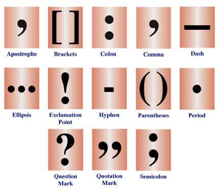 Essay punctuation