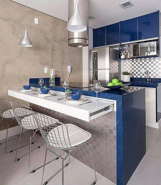 Plan De Travail Escamotable Petite Cuisine Kitchen Kitchen Makeover In 2019 Kitchen Island With Seating Kitchen Interior Diy Kitchen Island