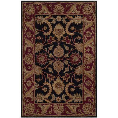 Safavieh Classic Black/Burgundy Rug Rug Size: 2'-