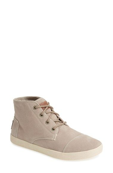 TOMS 'Paseo - High' Suede Sneaker (Women) available at #Nordstrom