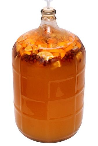 Mead or honey wine as it is sometimes known is pretty much made in the same way as wine (which is actually very simple to do), except you use honey in place of grapes or other fruit.