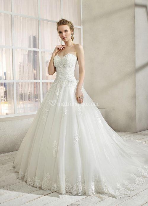 Abito Da Sposa 46.Vestito Da Sposa Con Scollo A Cuore Modello Mk 191 46 Miss Kelly