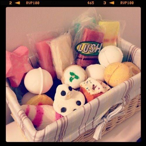 Lush bath bombs storage idea