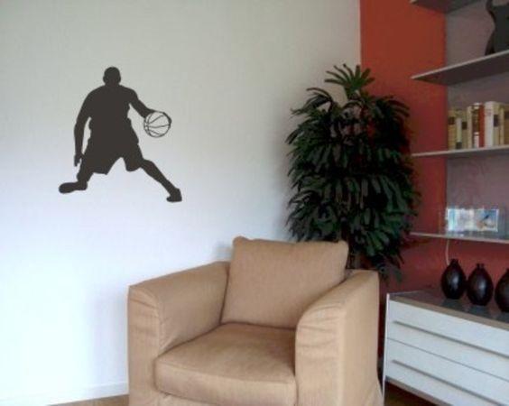 Wandtattoo Basketball Spieler Basketballer