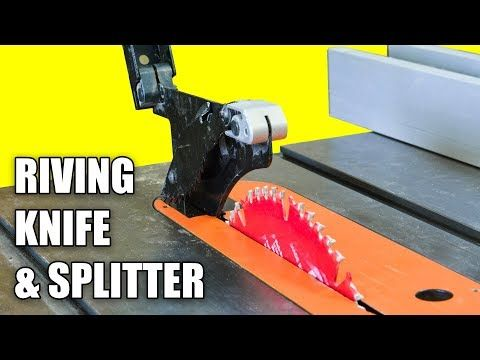 Table Saw Riving Knife Splitter Set Up And Alignment Prevent