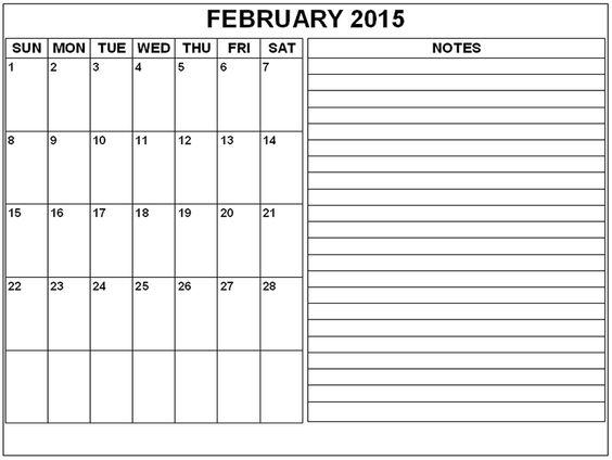 Print-February-2015-Calendar-2gif (970×730) organzing Pinterest