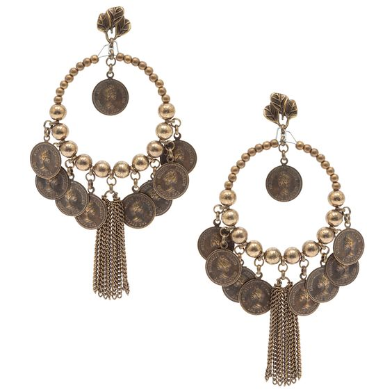 Coin Earrings by Cica & Renata