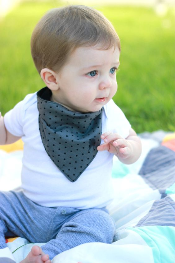 These bandana bibs are really cute and great for soaking up teething baby drool!