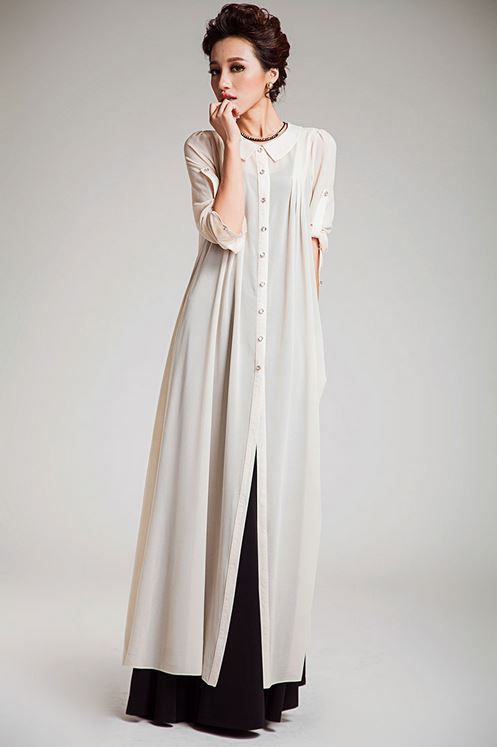 Maxi dress jubah moden