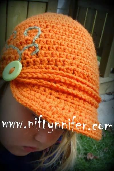 Free Knitting Pattern Baby Newsboy Hat : Free Newsboy Style Beanie Crochet Pattern by Niftynnifer Crochet Lounge Com...