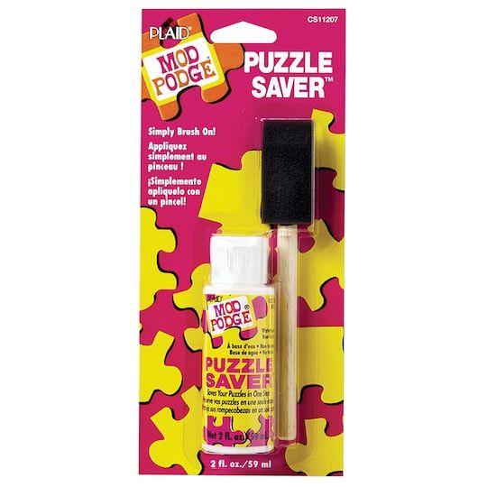 Mod Podge Puzzle Saver 2 Oz Michaels Decoupage Glue Puzzle