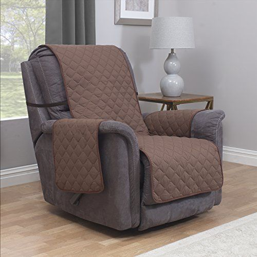Microfiber Recliner Cover Furniture Pet Hair Protector With Straps Chocolate Furniturefresh Microfiber Furniture Furniture Furniture Protectors