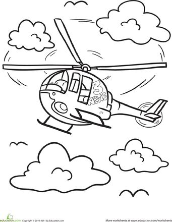 Helicopter Coloring Page Coloring