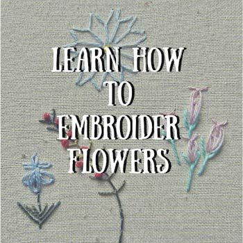 The first step in our hand embroidery for beginners course, learn how to embroider names and letters