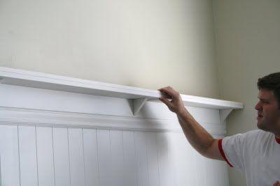 beadboard shelf tutorial