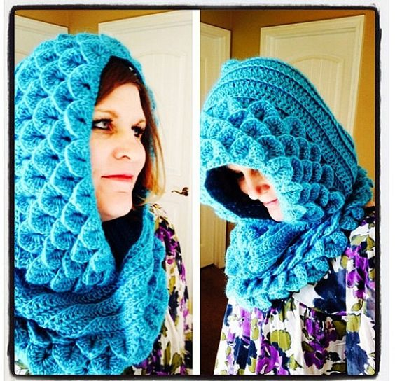 Cozy Hooded Cowl  Marte by ShawneeShoppe on Etsy, $50.00