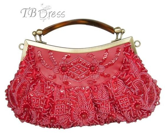 Graceful String Of Beads Handbag
