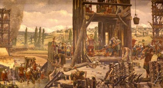 © Sébastien PITOIZET - le siège d' Alésia. - Colline, où se trouve le village d'Alise-Ste-Reine dominant le bourg des Laumes (Côte-d'Or), sur laquelle Vercingétorix s'enferma pour la bataille suprême de la guerre d'indépendance des Gaules (52 av J.C). Du côté des Romains, une aide puissante fut fournie par d'importants contingents de cavalerie envoyés par les Germains.