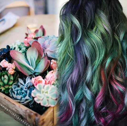 Channel Your Inner Forest Fairy With Succulent Hair  - Beauty for green and black thumbs alike: #SucculentHair, anyone? - Photos