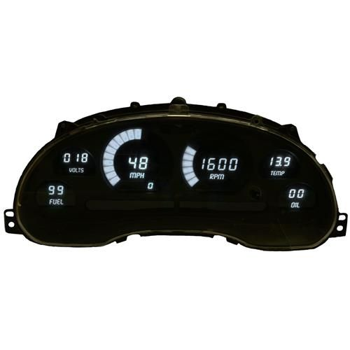 Upgrade The Factory Gauge Cluster In Your Mustang With This Custom White Led 1994 2004 Mustang Digital Dash Gauge Cluster From Intellitronix