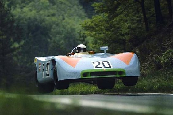 Porsche 908 flies on the Nurburgring