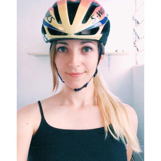 New helmet!  #iamspecialized #evade #cycling #womenscycling