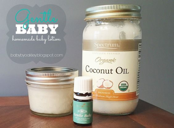 Gentle Baby | Homemade baby lotion using Gentle Baby from Young Living Essential Oils.
