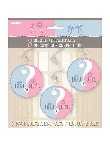 Gender Reveal Party Girl or Boy? Hanging Swirls Decoration Party Savvy http://www.amazon.com/dp/B00IREJ7U0/ref=cm_sw_r_pi_dp_o1oNtb1SJV6M68FE