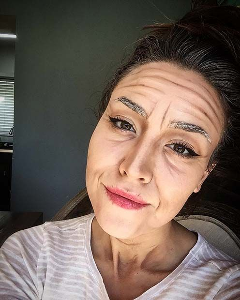 23 Easy Last Minute Halloween Makeup Looks Page 2 Of 2 Stayglam Halloween Makeup Looks Old Lady Makeup Old Age Makeup